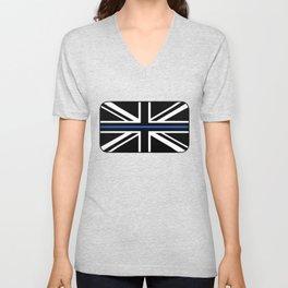 Thin Blue Line UK Flag Unisex V-Neck