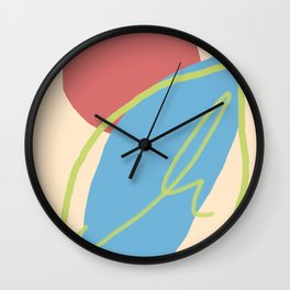BLOOD MOON OVER A BLUE LIME Wall Clock