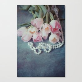 Tulips and Pearls Canvas Print