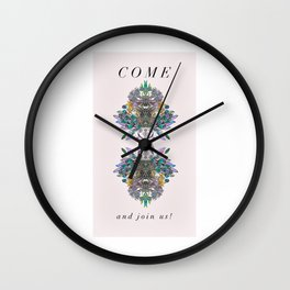 Come and Join Us Wall Clock