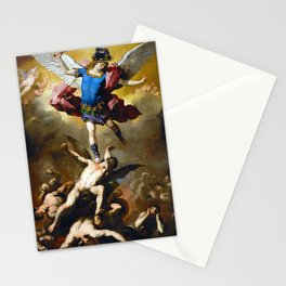 The Fall of the Rebel Angels by Luca Giordano (1666) Stationery Cards