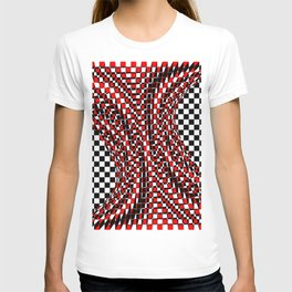 black white red 4 T-shirt