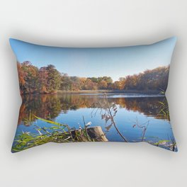 Colorful fall landscape - Creek in Maryland Rectangular Pillow