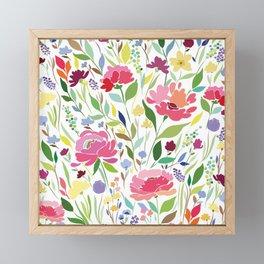 Rock in Flowers Framed Mini Art Print