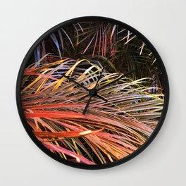 Firecracker Festival Of Fabulous Leaves Wall Clock
