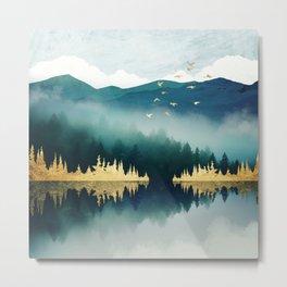 Mist Reflection Metal Print