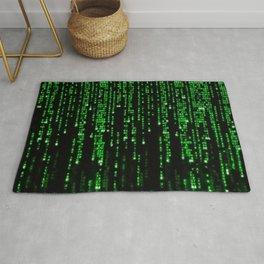 Matrix Binary Code Rug