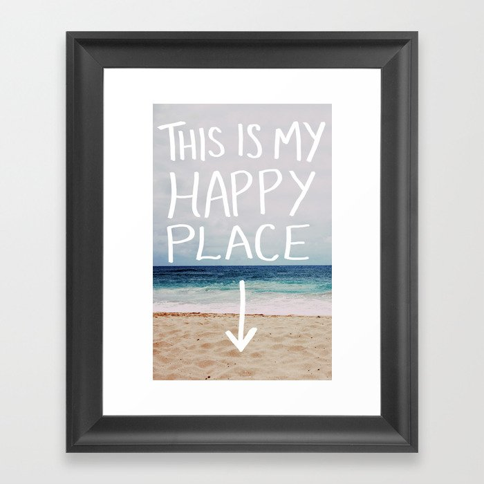 My Happy Place (Beach) Gerahmter Kunstdruck