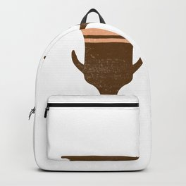 Greek Pottery 36 - Bell Krater - Terracotta Series - Modern, Contemporary, Minimal Abstract - Auburn Backpack
