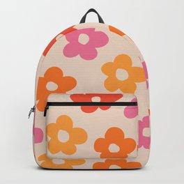 Retro 60s 70s Flowers Pattern #pattern #vintage Backpack