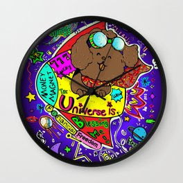 JB the Poodle in Space Wall Clock