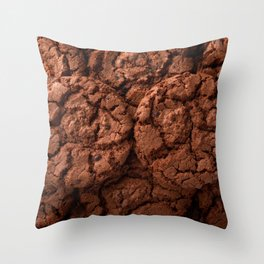 Group of dark chocolate cookies Throw Pillow
