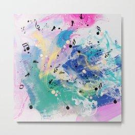 Musical Fantasy, Colorful Abstract  Metal Print