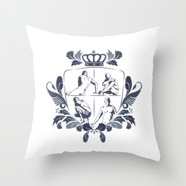 Empathy (Blue) Throw Pillow