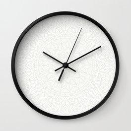 Cream on White Mandala Circle of Life Wall Clock
