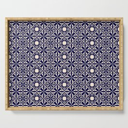 Pattern art curtain 2 Serving Tray