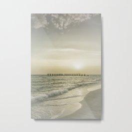 Gasparilla Island Sunset | Vintage Metal Print