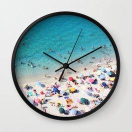 Pebbly Sunbake Wall Clock