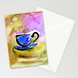 Coffee Dreams 13f by Kathy Morton Stanion Stationery Cards