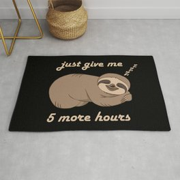 Sloth - 5 More Hours Rug