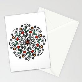 Mandala with hearts   Karina Kamenetzky Stationery Cards
