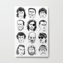 80s Action Stars Metal Print