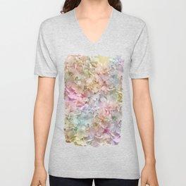 Pastel Hydrangeas Unisex V-Neck
