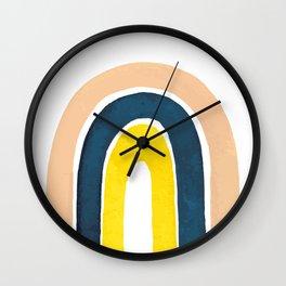 Retro Rainbow Illustration Wall Clock