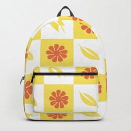 Yellow flowers and leaves pattern Backpack