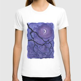 Crescent Moon and Night Sky  T-shirt
