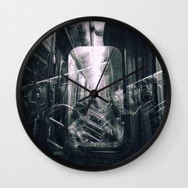 Subway reflections Wall Clock