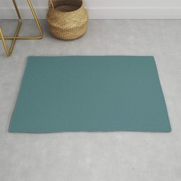 Solid Dark Beetle Green Color Rug