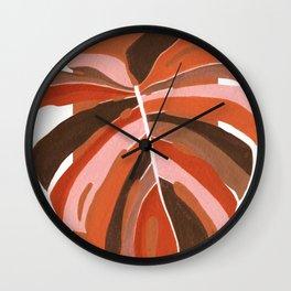 Abstract Monstera Wall Clock