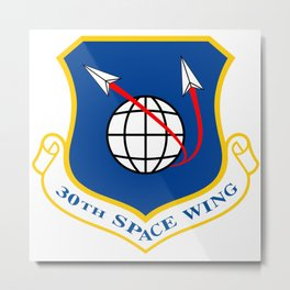 Space Force - Space Wing Metal Print