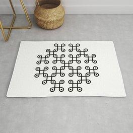 Crop circles motif Rug