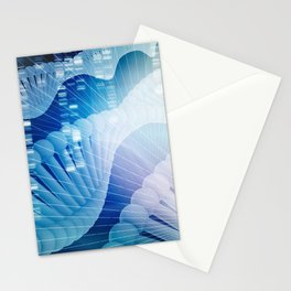 DNA Molecule Helix Science Abstract Background Art Stationery Cards