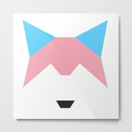 Trans pride wolf Metal Print