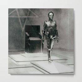 Metropolis poster print vintage photograph science fiction sci-fi cult classic film black and white movie still photograph Metal Print