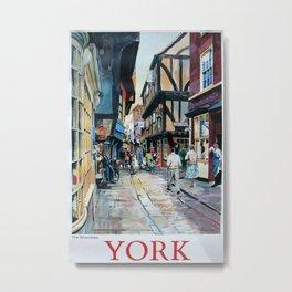 York Vintage Travel Poster Metal Print