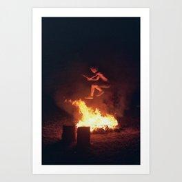 Fire Jump Art Print