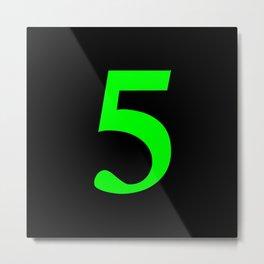 5 (LIME & BLACK NUMBERS) Metal Print