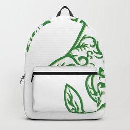 Springbok Head Paper Cut Backpack