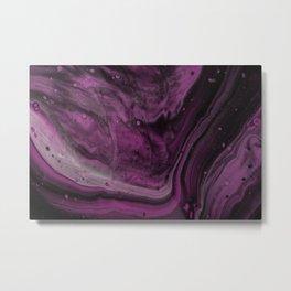 Purple Fluid Art  Metal Print