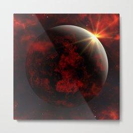 Fantasy red planet Metal Print