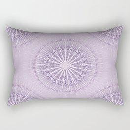 Lavender Geometric Mandala Rectangular Pillow