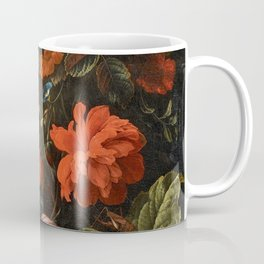 Elias van den Broeck - Floral Still Life with Insects Coffee Mug