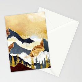 Misty Peaks Stationery Cards
