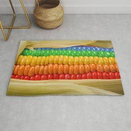 Rainbow Corn Rug