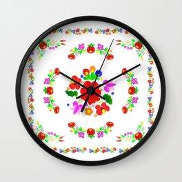 Hungarian Kalocsa 2 Wall Clock