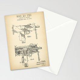 Mac 10 Uzi vintage print Stationery Cards